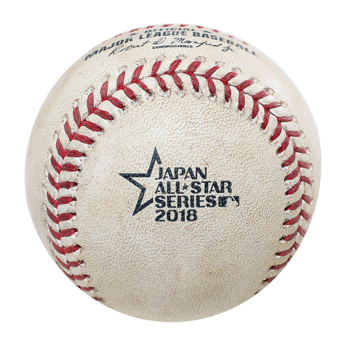 Photo of 2018 Japan Series Game-Used Baseball - Batter: Shogo Akiyama, Pitcher: Brian Johnson - 2 RBI Single, Top 5th