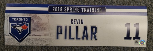 Photo of Authenticated Game Used Locker Tag - #11 Kevin Pillar (2019 Spring Training in Montreal)