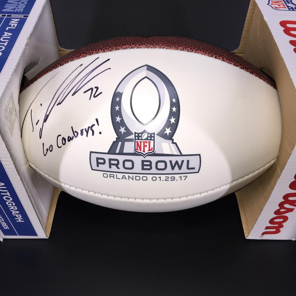 NFL - Cowboys Travis Frederick Signed Pro Bowl Panel Ball W/
