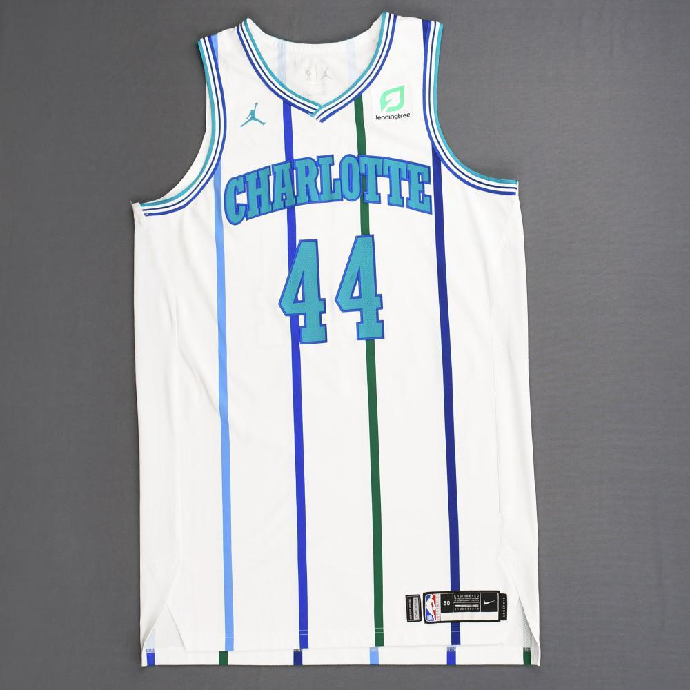 Frank Kaminsky - Charlotte Hornets - 2018-19 Season - Game-Worn White Classic Edition 1988-97 Home