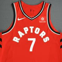 Kyle Lowry - Toronto Raptors - 2018-19 Season - Canada Series - Game-Worn Red Icon Edition Jersey