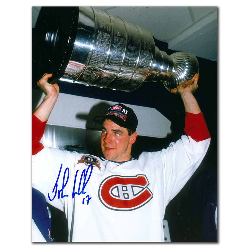 John LeClair Montreal Canadiens 1986 Stanley Cup Autographed 8x10