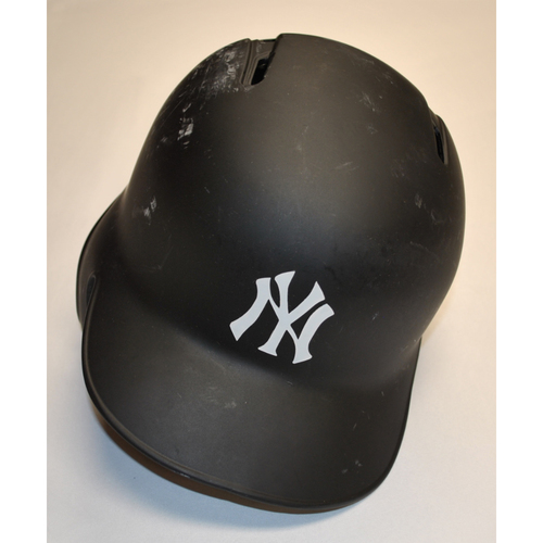 "Photo of CC ""DUB"" Sabathia New York Yankees Game-Used 2019 Players' Weekend Helmet"