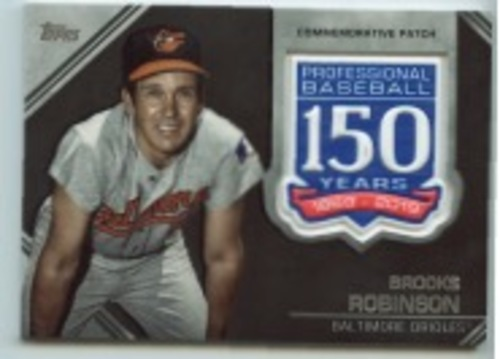 Photo of 2019 Topps Update 150th Anniversary Manufactured Patches #AMPBR Brooks Robinson