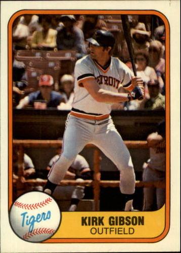 Photo of 1981 Fleer #481 Kirk Gibson RC