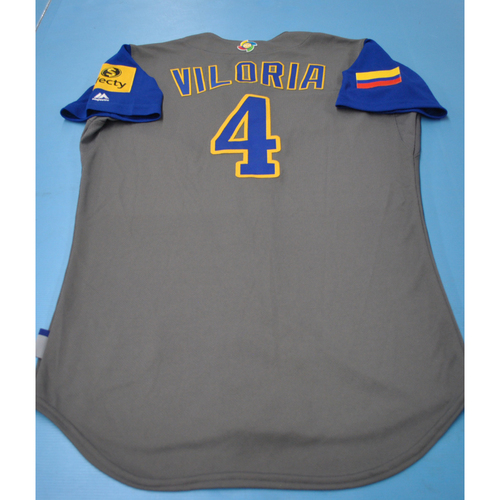 Photo of 2017 World Baseball Classic Game-Used Jersey - Meibrys Viloria - Colombia (Size 40)