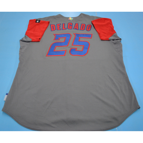 Photo of Game-Used Jersey - 2017 World Baseball Classic  - Puerto Rico - Carlos Delgado - Size 50