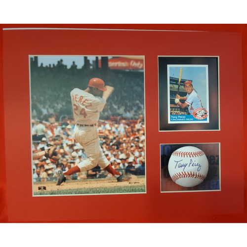 Photo of Matted Tony Perez Batting - 11x14