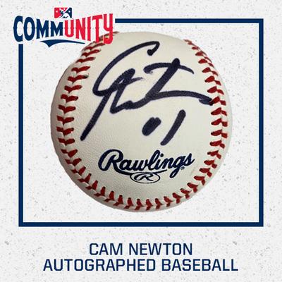 Cam Newton Autographed Baseball