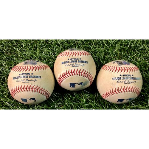 Photo of Game Used Baseball Package: Joe Panik, Danny Jansen and Teoscar Hernandez - August 22 & 24, 2020 v TOR