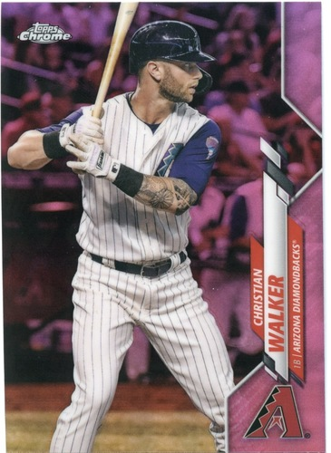 Photo of 2020 Topps Chrome Pink Refractors #27 Christian Walker