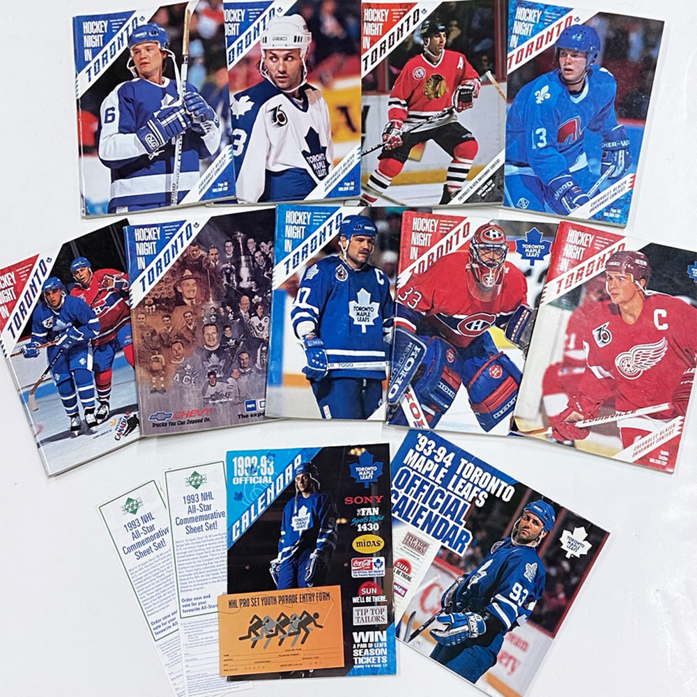 Lot of Maple Leafs 1990s Programs & More