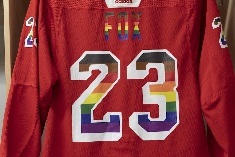 Autographed Pride Night Warm-Up Jersey: #23 Adam Fox - New York Rangers