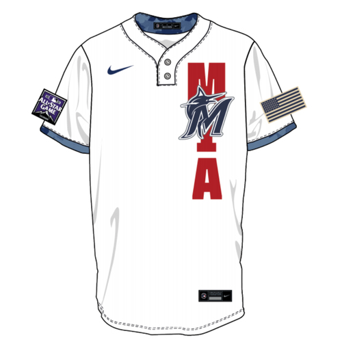 Photo of Trevor Rogers 2021 Major League Baseball Workout Day Autographed Jersey