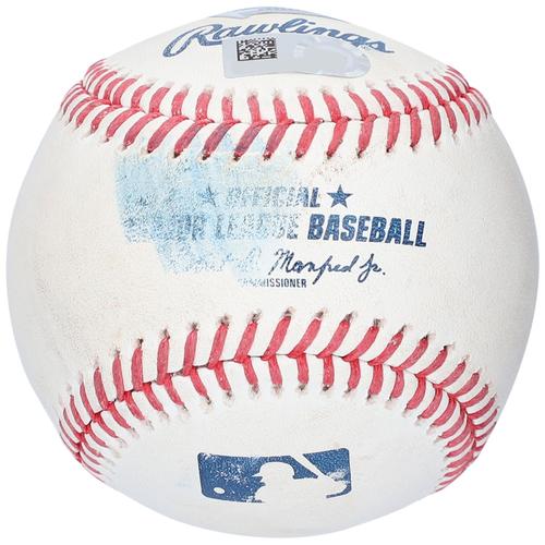Photo of Trea Turner Washington Nationals Game-Used Baseball vs. New York Yankees on May 9, 2021 - Foul