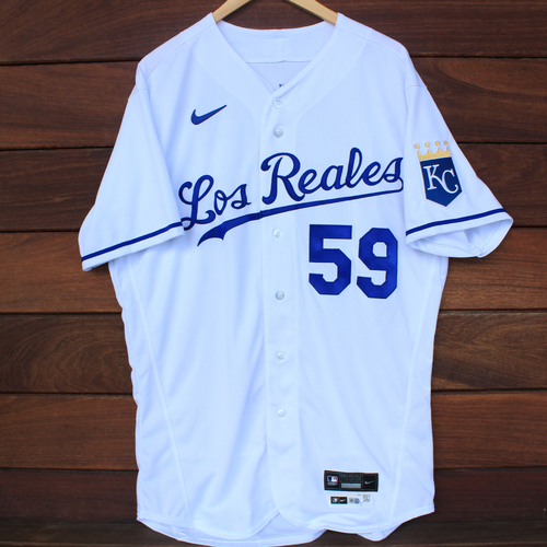 Photo of Game-Used Los Reales Jersey: Jake Brentz #59 (SEA@KC 9/17/21) - Size 46