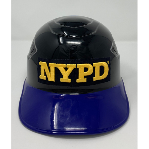 Photo of Gary DiSarcina #10 - Game Used Coaches Helmet with NYPD Logo - 20th Anniversary Ceremony of 9/11/2001 - Mets vs. Yankees - 9/11/21