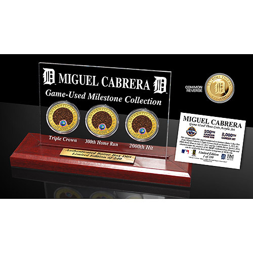 Photo of Detroit Tigers Miguel Cabrera Historic Dirt Collection