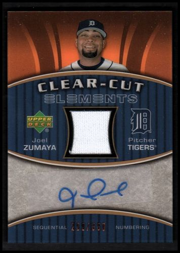 Photo of 2007 Upper Deck Elements Clear Cut Elements Bronze #JZ Joel Zumaya
