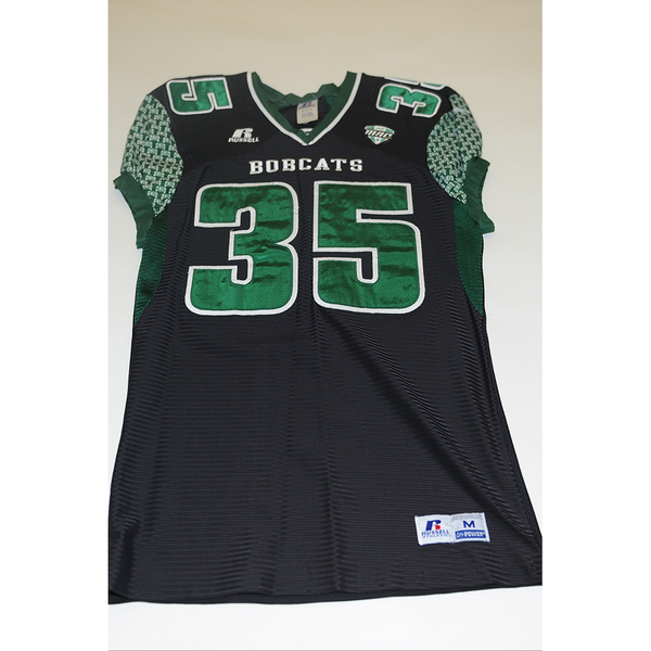 Photo of # 35 - Official OHIO BOBCATS Game Worn Football Jersey (2011) - SIZE MEDIUM