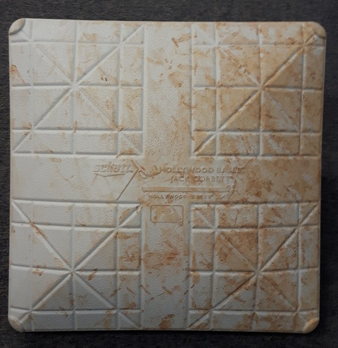Photo of Authenticated Game Used Base - 1st base for Innings 1 to 5: Minnesota at Toronto (August 3, 2015). Used for David Price's Blue Jays debut and 1st win as a Blue Jay.