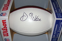 NFL - PATRIOTS DEATRICH WISE SIGNED PANEL BALL