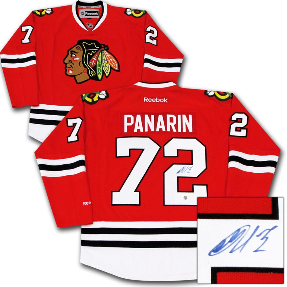 Artemi Panarin Autographed Chicago Blackhawks Jersey