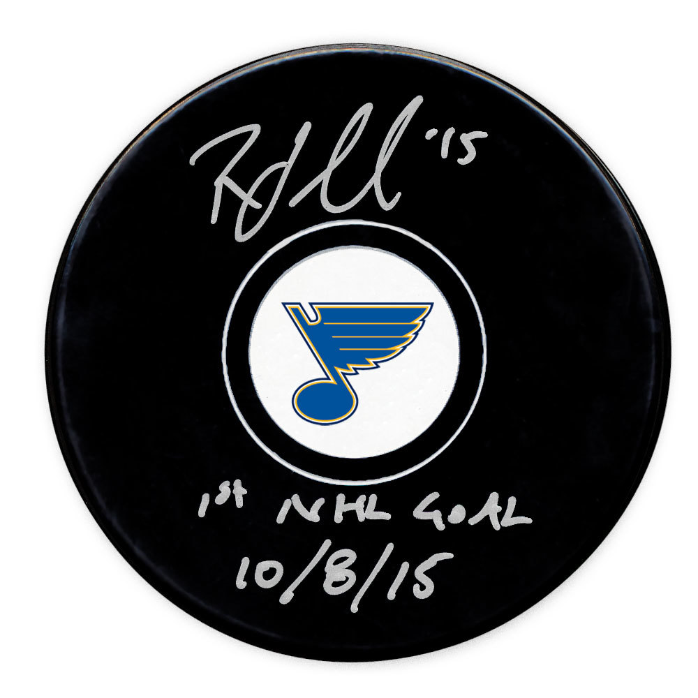Robby Fabbri St. Louis Blues 1st Goal 10/8/15 Autographed Puck
