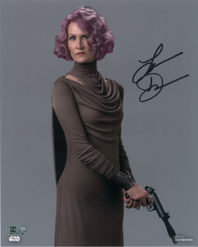 Laura Dern as Vice Admiral Holdo Autographed in Black Ink 11x14 Photo
