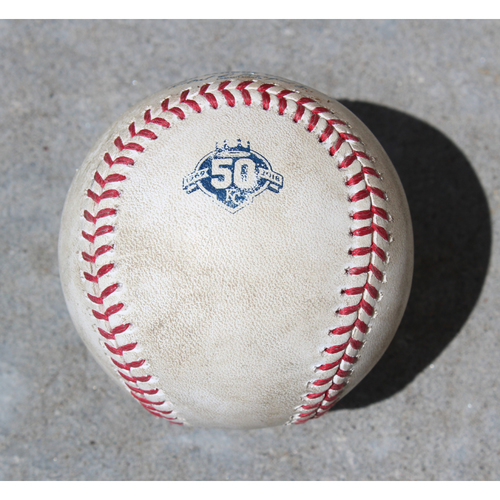 Photo of Player-Collected Baseball: Cheslor Cuthbert 16th Career Home Run (CWS @ KC - 4/29/2018)