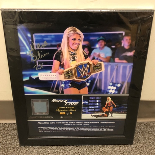 Photo of Alexa Bliss Autographed Signature Series Ring Canvas Plaque (#3 of 5)