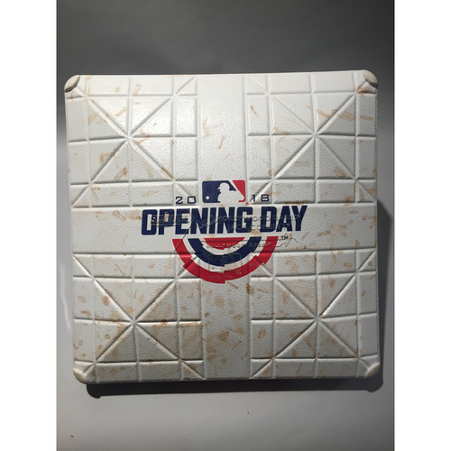 Photo of 2018 Minnesota Twins Opening Day Base - 3rd Base used 7th- 9th Innings