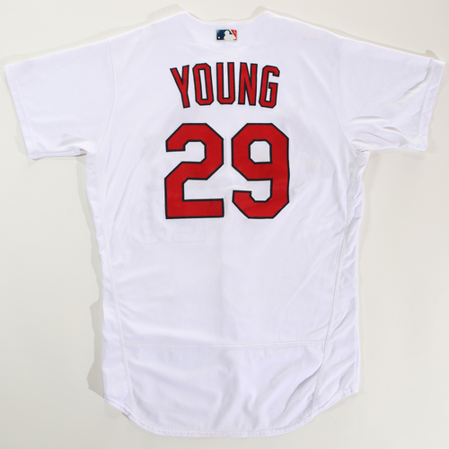 Photo of 2018 Arizona Fall League Game-Used Jersey - Andy Young -Size 44