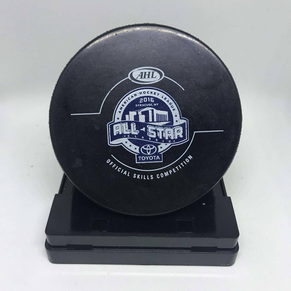2016 Skills Competition ASC Turning Stone Resort Casino Accuracy Shooting-Used Puck- #17 Chris Bourque
