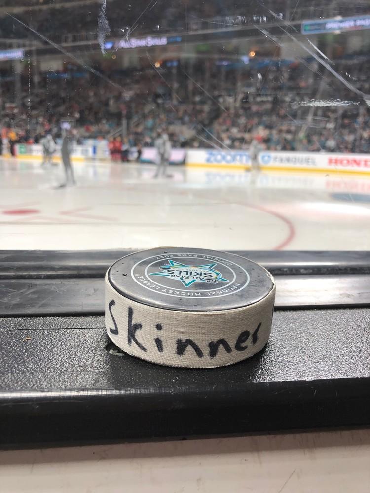 Jeff Skinner Buffalo Sabres Atlantic Division Gatorade NHL Puck Control Event-Used Puck - Second Shot