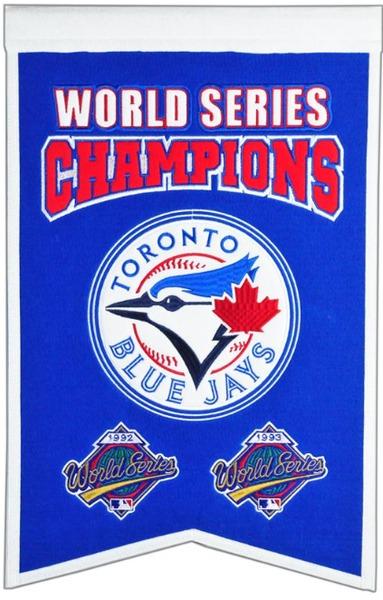 Toronto Blue Jays '92/'93 World Series Championship Pennant by Winning Streak Sports