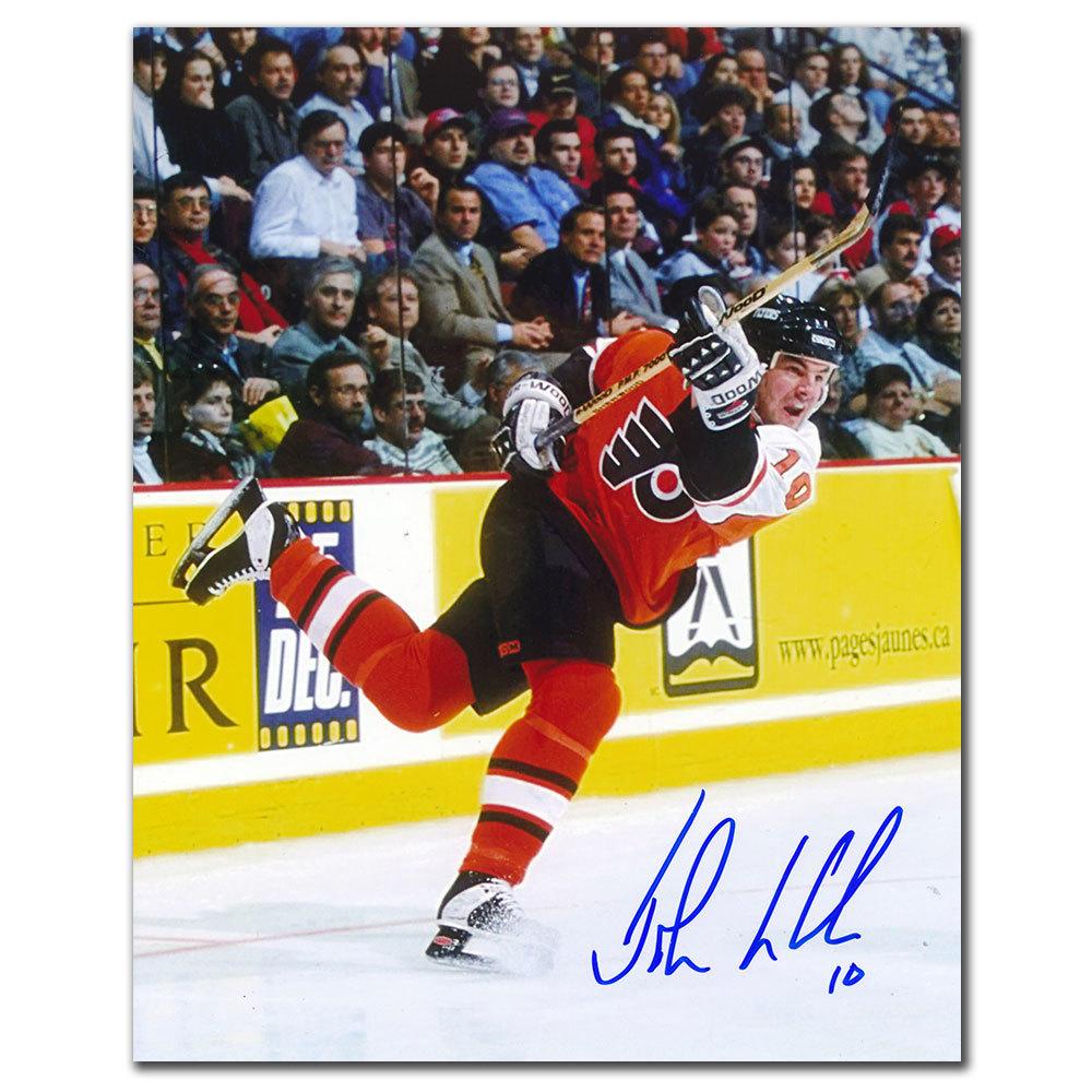 John LeClair Philadelphia Flyers SLAPSHOT Autographed 8x10