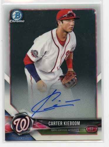Photo of 2018 Bowman Chrome Prospect Autographs #BCPACK Carter Kieboom