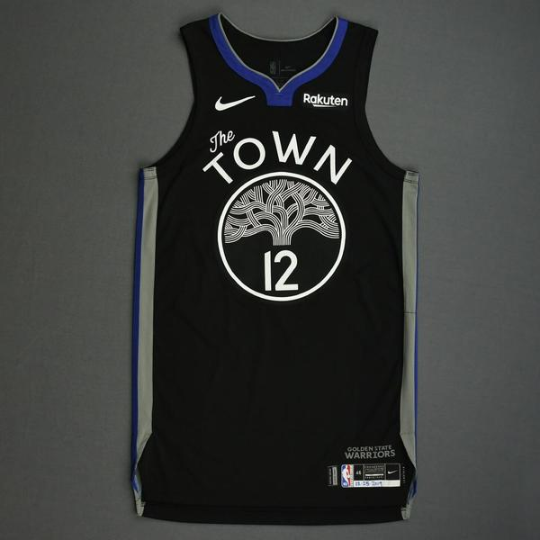 Image of Ky Bowman - Golden State Warriors - Christmas Day' 19 - Game-Worn City Edition Jersey
