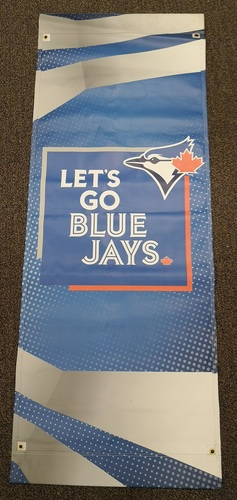 Photo of Authenticated Team Issued 2019 Opening Weekend Street Banner (6 feet by 27 inches)