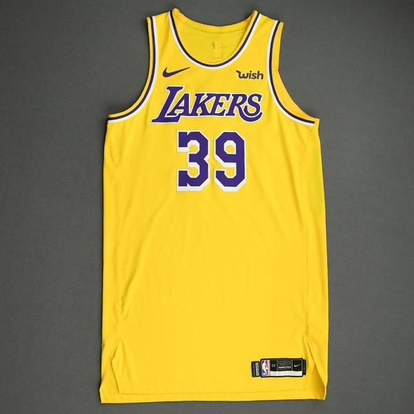 Image of Dwight Howard - Los Angeles Lakers - NBA China Games - Game-Worn Icon Edition Jersey - Worn 2 Games - 2019-20 NBA Season