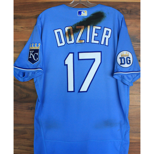 Photo of Alex's Lemonade Stand Foundation: Game-Used Hunter Dozier Jersey (Size 46 - 9/26/20 DET @ KC)