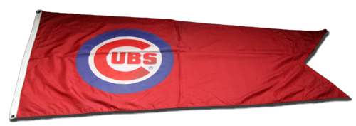 Photo of Wrigley Field Collection -- Rooftop Flag -- Cubs Bullseye Logo