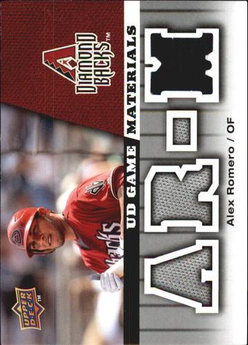 Photo of 2009 Upper Deck UD Game Materials #GMAR Alex Romero