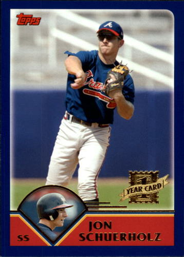 Photo of 2003 Topps Traded #T194 Jon Schuerholz FY RC