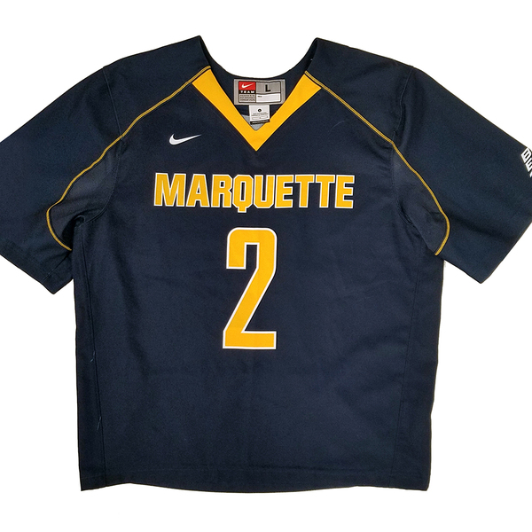 Photo of Marquette No. 2 Blue Lacrosse Jersey