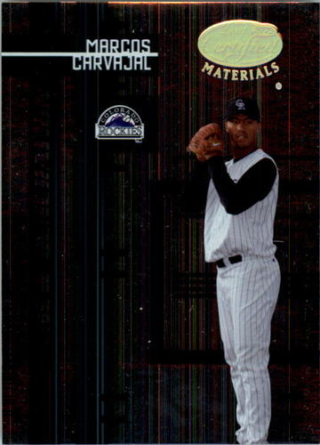 Photo of 2005 Leaf Certified Materials #240 Marcos Carvajal NG RC