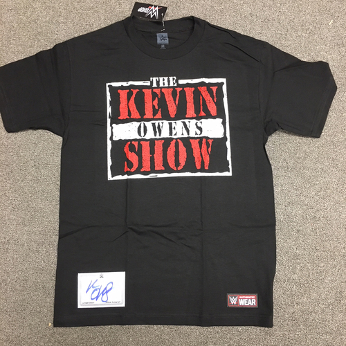 Photo of Kevin Owens SIGNED Authentic T-Shirt (With Exclusive Autograph Patch)