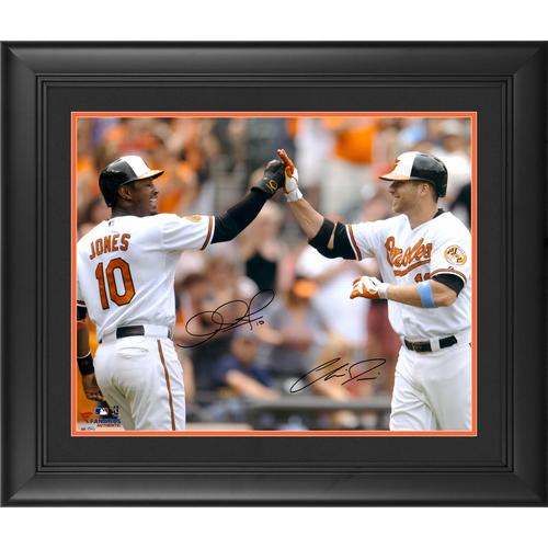 "Photo of Chris Davis & Adam Jones Baltimore Orioles Dual Framed Autographed 16"" x 20"" High Five Photo"
