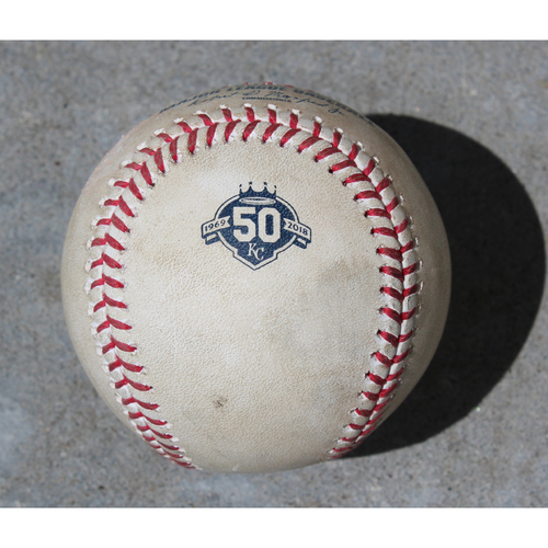 Photo of Game-Used Baseball: Nicky Delmonico 7th Career Double and 29th Career RBI (CWS @ KC - 4/29/2018)